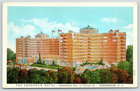 Washington DC~Shoreham Hotel~Connecticut Avenue & Calvert~Artist Drawing~1930