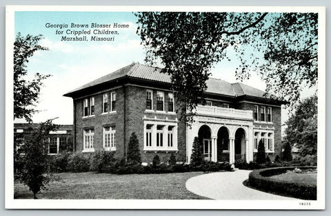 Marshall MO Circle Drive in Front of Blosser Home For Crippled Children~1941