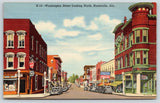 Huntsville AL~Washington Street~Humphrey & Sons~Theatre~Corner Drug~1941 Linen