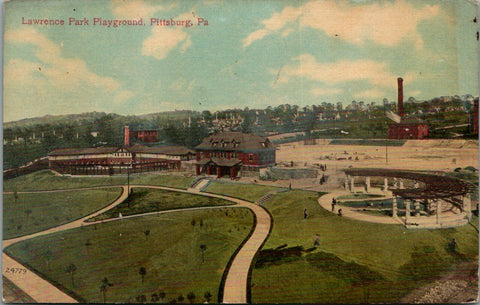Pittsburgh Pennsylvania~Lawrence Park Playground~Pergola Paths~1910 Postcard