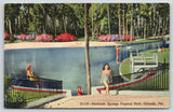 Orlando Florida~Sanlando Springs Tropical Park Bathing Beauties~1948 Linen PC