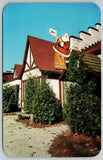 Santa Claus IN~Cardboard Big Guy on Post Office Roof~Holds Letter to Self~1950s