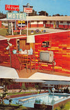 Perrytown AR Perry's Congress Motel~Portable TV on Stand~Swimming Pool 1950s PC