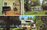 Sister Bay Wisconsin~Bay Shore Cottage Resort~Fireplace Rocking Chair~1968 PC