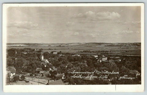 Missouri Valley Iowa~Summer View~Southeast From Hills~Homes~Backyards~c1910 RPPC
