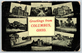 Columbus Ohio~Multi Vw~Prison~Theatre Olentagy Park~Court House~High Street~1911