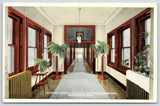 Rochester MN~Heat Radiators~Planters~St Mary's Hospital Hallway~c1914 Postcard