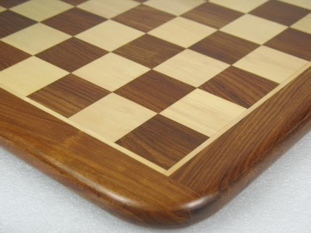 "Chess Board Wooden Sheesham Golden Brown Wood 17"" - 45 mm"