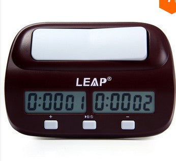 LEAP Professional Compact Digital Chess Clock Count Up Down Timer Electronic Board Game Bonus Competition Master Tournament NEW