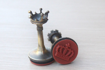 accessories Crown stamps chess shape seal office supplies seal products, Princess sweet lolita stationary Vintage decoration