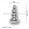 Chess Piece Charm Accessories Newest 30 Pcs a lot Antique Silver Plated Pawn