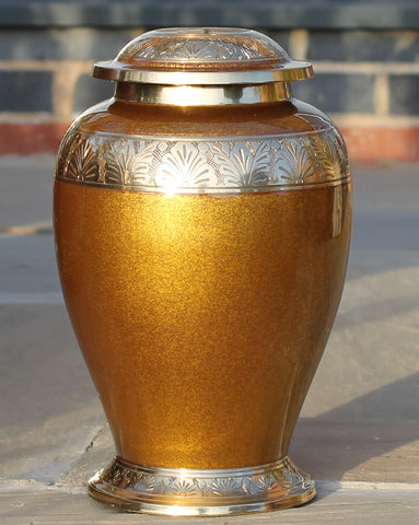 Brown Marble Style Cremation Urn
