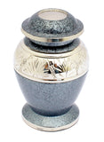 miniature urn, grey mini keepsake urn, free delivery urn, quick delivery urn, mini ashes container