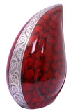 red cremation urn, red teardrop cremation urn, red teardrop urn for ashes , red ashes urn, teardrop urn, cremation urn for ashes , urn for ashes , container for ashes, ashes storage jar, human ashes container, large urn , british urn, adult ashes urn, cremation urn for human ashes, funeral memorial burial remembrance URN, affordable price urn, metal urn, blue urn, free delivery urn, quick delivery urn