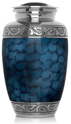 blue ashes urn, blur urn, Blue clouded cremation urn, cremation urn for ashes , urn for ashes , container for ashes, ashes storage jar, human ashes container, large urn , british urn, adult ashes urn, cremation urn for human ashes, funeral memorial burial remembrance URN, affordable price urn, metal urn, blue urn, free delivery urn, quick delievery urn