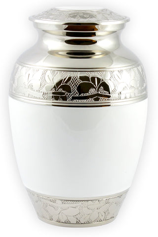white urn, medium urn, white medium urn, pet urn, child urn, baby urn, infant urn, White Cat Cremation Urn For Ashes Pet Memorial Urn