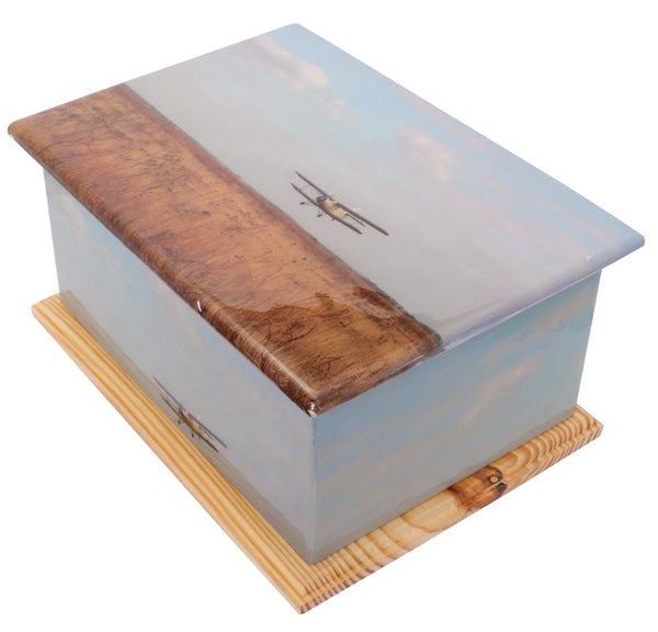 wood urn, casket urn, ashes container, human ashes container , wood casket , aeroplane urn, plane urn, hour glass urn