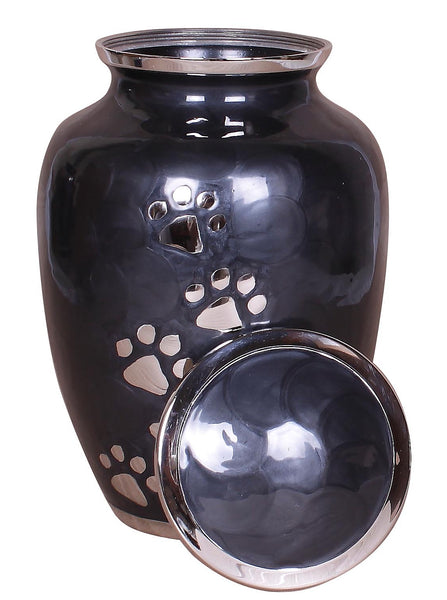 Pet ashes urn, black pet urn , paw print, dog cat ashes container large, Pet ashes urn, urn for pet, Funeral memorial remembrance urn cremation urn for ashes , urn for ashes , container for ashes, ashes storage jar, human ashes container, large urn , british urn, adult ashes urn, cremation urn for human ashes, funeral memorial burial remembrance URN, affordable price urn, metal urn, pet urn, free delivery urn, quick delivery urn