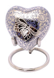 Blue Heart Keepsake With Stand & Box