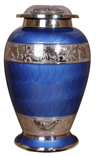 blue double cremation urn, blue ashes urn for 2 people , extra large urn, blue companion urn, dual capacity urn, double capacity urn, urn for 2 adults, horse urn, urn for very large pet animal, free delivery urn, quick delivery urn, best quality urn, affordable price urn, cheap price urn