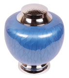 Blue urn, blue cremation urn, blue urn for ashes, blue ashes urn, Free delivery urn quick delivery urn affordable price urn best quality urn Funeral memorial remembrance human ashes container mini adult child pet ashes urn teardrop brass large medium small urn