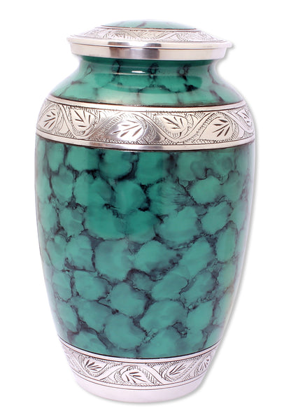 Green cremation urn for adult Large urn, free delivery quick delivery best quality decorative urn, cremation urn for ashes , urn for ashes , container for ashes, ashes storage jar, human ashes container, large urn , british urn, adult ashes urn, cremation urn for human ashes, funeral memorial burial remembrance URN, affordable price urn, metal urn, blue urn, free delivery urn, quick delivery urn