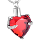 Red Crystal Heart Pendant