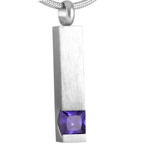 Grey & Purple Stone Pendant