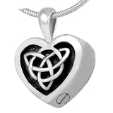 Cremation memorial jewellery celtic ashes pendant necklace keepsake mini urn