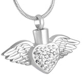 Cremation memorial jewellery silver ashes pendant necklace keepsake mini urn