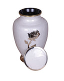 Funeral memorial remembrance white urn human ashes container mini adult child pet ashes urn teardrop brass large medium small urn