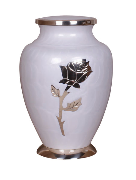 white cremation urn, rose urn, adult urn, large urn, urn for ashes, cremation ashes urn, free delivery urn, affordable price urn, best quality urn, cremation funeral memorial remembrance container for human ashes , ashes jar, ashes storage