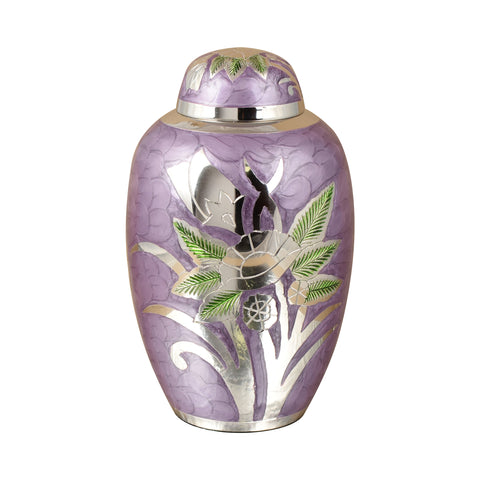 Purple adult cremation urn , purple cremation urn, flower urn, large funeral memorial burial remembrance brass urn for human ashes, cremation urn for ashes , urn for ashes , container for ashes, ashes storage jar, human ashes container, large urn , british urn, adult ashes urn, cremation urn for human ashes, funeral memorial burial remembrance URN, affordable price urn, metal urn, purple urn, free delivery urn, quick delivery urn