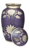 Funeral memorial remembrance human ashes container, purple flower urn, free delivery urn, quick delivery, urn for her  large  urn , free delivery urn, quick delivery urn, best quality urn, affordable price urn, cheap price urn