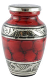 miniature red urn, red token urn, mini keepsake , urn for sharing ashes , Red keepsake urn, small urn, red urn, red clouded urn, free delivery, best quality, Funeral memorial remembrance ashes container , Funeral memorial remembrance human ashes container mini adult child pet ashes urn teardrop brass large medium small urn
