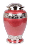 red cremation urn, red urn, adult urn, large urn, urn for ashes, cremation ashes urn, free delivery urn, affordable price urn, best quality urn, cremation funeral memorial remembrance container for human ashes , ashes jar, ashes storage