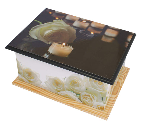 white roses casket, candle casket urn, wood casket ashes urn, white roses urn, candle urn, cremation urn for ashes , urn for ashes , container for ashes, ashes storage jar, human ashes container, large urn , british urn, adult ashes urn, cremation urn for human ashes, funeral memorial burial remembrance URN, affordable price urn, metal urn, blue urn, free delivery urn, quick delivery urn