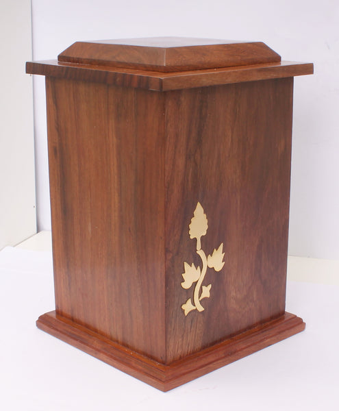 solid wood adult creamtion urn , hard wood container for human ashes, extra large urn, pet , funeral memorial remembrance