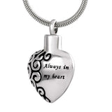 Ashes Pendant Silver Heart