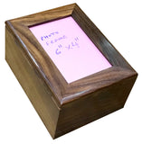 solid wood cremation urn , hard wood container for human ashes, extra large urn, pet , funeral memorial remembrance