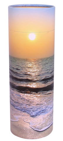 sunset  scatter tube, beech scatter tube, biodegradable ashes urn, eco friendly ashes urn, large, scatter tube, medium scatter tube, small scattering urn, child scatter ashes, pet ashes scatter urn, adult scatter urn, cardboard ashes urn, scattering urn, urn for scattering ashes , transferring ashes on plane, free delivery urn, finest quality urn,  quick delivery , water burial urn, land burial urn