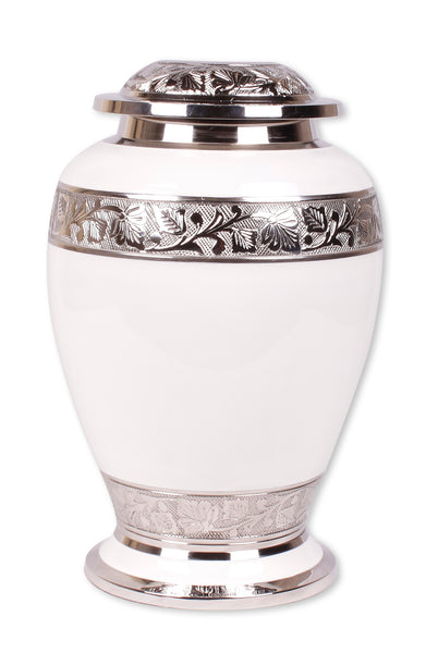 white cremation urn, white urn, adult urn, large urn, urn for ashes, cremation ashes urn, free delivery urn, affordable price urn, best quality urn, cremation funeral memorial remembrance container for human ashes , ashes jar, ashes storage