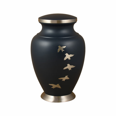 cremation urn for ashes , urn for ashes , container for ashes, ashes storage jar, human ashes container, large urn , british urn, adult ashes urn, cremation urn for human ashes, funeral memorial burial remembrance URN, affordable price urn, metal urn, navy blue urn, free delivery urn, quick delivery urn