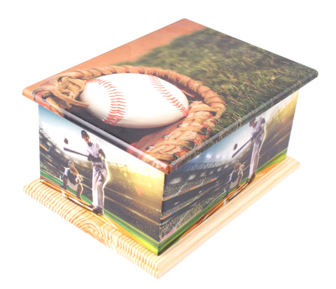 baseball wooden casket, wooden urn, sports urn, wooden casket , extra large urn, ashes urn, free delivery urn, best price urn, affordable price urn, best quality urn