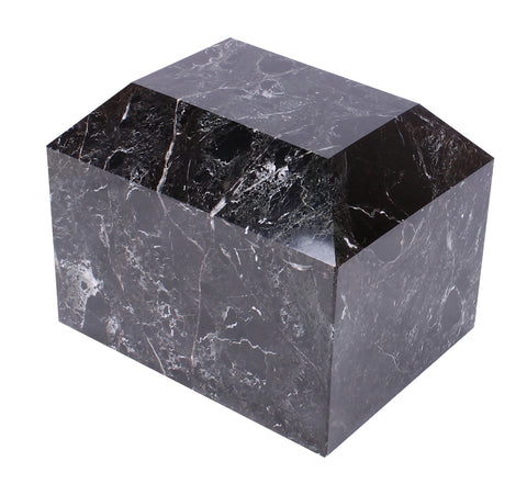 black marble outdoor urn extra large urn  urn for large animal ashes container funeral memorial cremation ashes container outdoor indoor garden urn