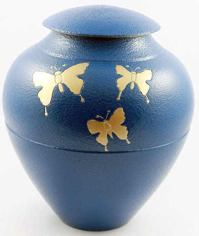 cremation urn for ashes , urn for ashes , blue urn, butterfly urn,  container for ashes, ashes storage jar, human ashes container, large urn , british urn, adult ashes urn, cremation urn for human ashes, funeral memorial burial remembrance URN, affordable price urn, metal urn, blue urn, free delivery urn, quick delievery urn
