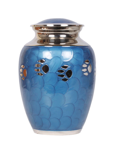 blue pet ashes urn, dog cat urn, cremation urn for ashes , urn for ashes , container for ashes, ashes storage jar, human ashes container, large urn , british urn, adult ashes urn, cremation urn for human ashes, funeral memorial burial remembrance URN, affordable price urn, metal urn, blue urn, free delivery urn, quick delivery urn
