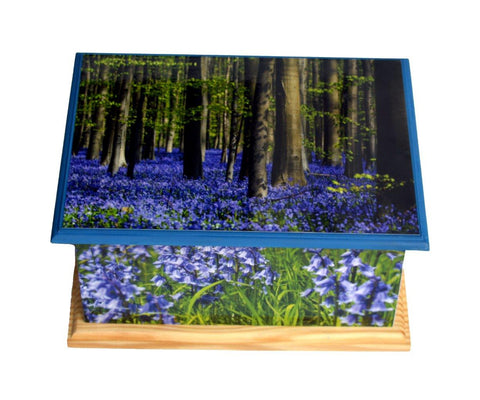 Bluebell Forest MDF/Teak Wood Casket Urn