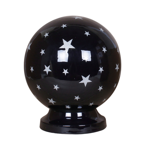 Blue stars globe urn, blue ashes urn, globe ashes urn, globe cremation urn, round urn, silver  stars ashes urn, round cremation urn for ashes , urn for ashes , container for ashes, ashes storage jar, human ashes container, large urn , british urn, adult ashes urn, cremation urn for human ashes, funeral memorial burial remembrance URN, affordable price urn, metal urn