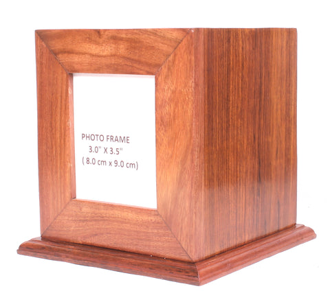 solid wood cremation urn , photo frame wood urn, child urn, sharing ashes urn, baby urn, per cremation urn, hard wood container for human ashes, extra large urn, pet , funeral memorial remembrance